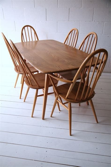 Ercol Dining Table And Chairs Ercol Dining Table And 6 Chairs And Chrome