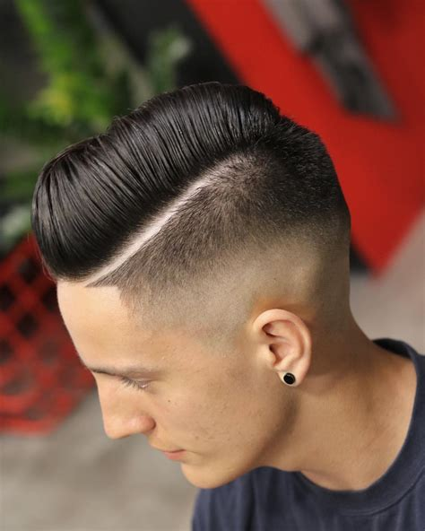 hair part with a line 50 cool guy s haircuts