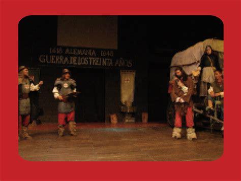 resumen de madre coraje repertorio peque 241 o teatro de medell 237 n