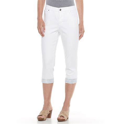 Women's Gloria Vanderbilt Jordyn Embellished Capri Jeans ... Gloria Vanderbilt Capris Pants