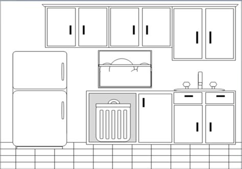 kitchen layout clipart kitchen bw free images at clker com vector clip art