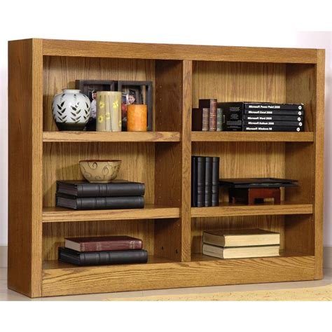 Wide Shelf Bookcase by Concepts In Wood Wide 6 Shelf Bookcase 206543