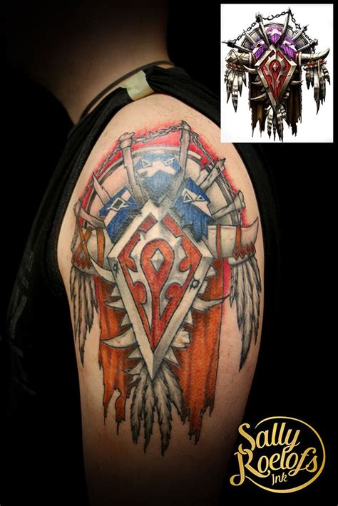 wow tattoo the horde tattoos of sally roelofs