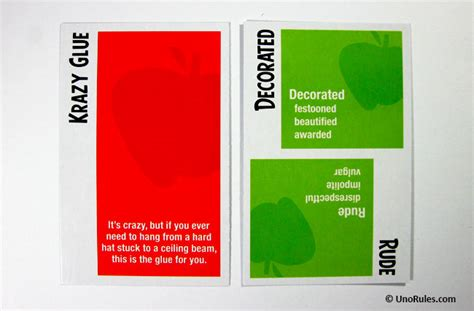 Apples To Apples Template Card by Apples To Apples Uno