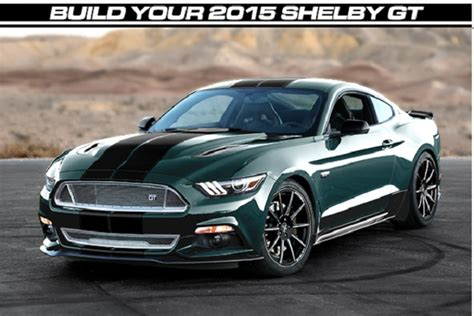 build your own 2015 shelby gt with customizer fordnxt