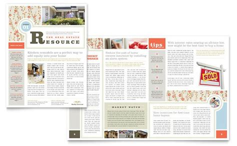 table layout newsletter real estate home for sale newsletter template design i