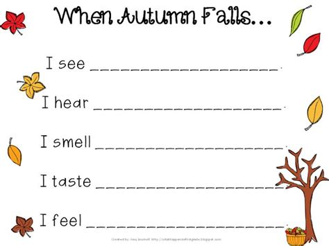 what happens in first grade fall freebie