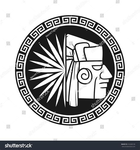 aztec pattern logo tequila logo aztec agave stock vector 616300130 shutterstock
