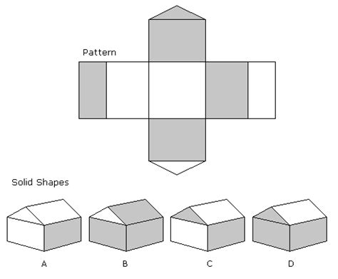 pattern aptitude test questions spatial ability tests solid shapes