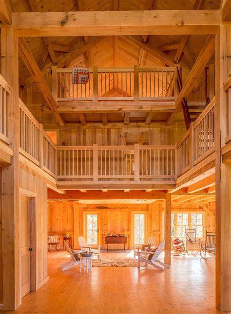 houses  barns midcoast maine post  beam barn