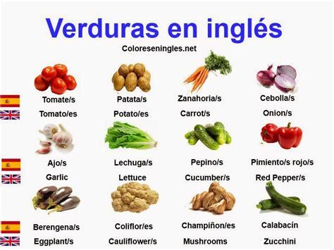 imagenes en ingles con su nombre verduras con nombres en ingles mas im 225 genes educanimando