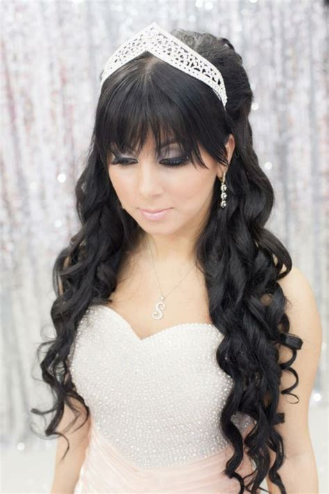 Black Wedding Hairstyles With Tiara by Peinados De Novia Con Flequillo M 225 S De 50 Ideas