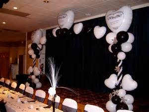 wedding table decorations black and white decoration