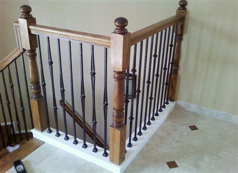 banister baluster iron balusters artistic ornamental iron of minneapolis mn