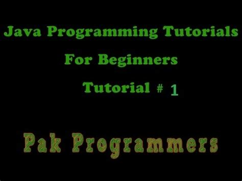 java tutorial in urdu java urdu programming tutorial 1 installing the jdk youtube