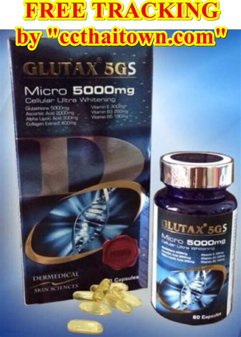 Glutax Capsule 60 softgel 5gs micro 5 000 mg whitening edible glutathione
