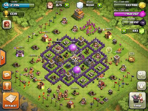 base 7 townhall town hall 7 farming bases clash of clans