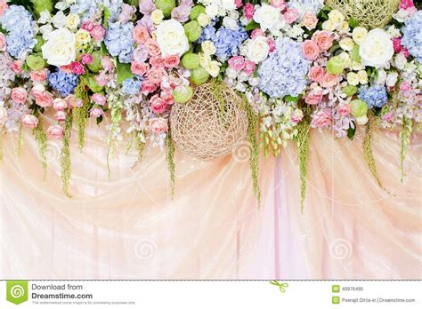 Wedding Background Decorations by Wedding Flowers Background Stock Image Image 49976495