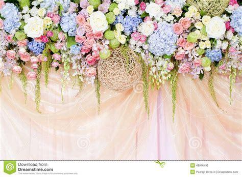 Wedding flowers background stock image. Image of element