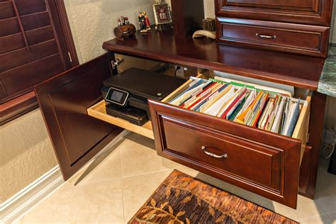 computer desk with built in filing cabinet lateral file cabinet home office traditional with built in