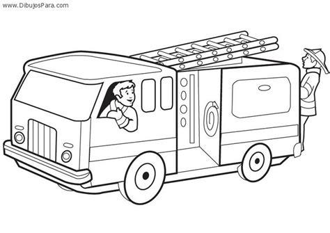 coloring book npr dibujo de camion de bomberos dibujos de camiones para