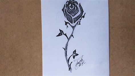 como dibujar un rosa para tatuar how to draw a tribal