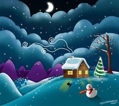 snowman christmas scene cartoon