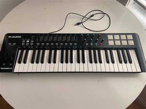audio oxygen  usb midi keyboard controller  black