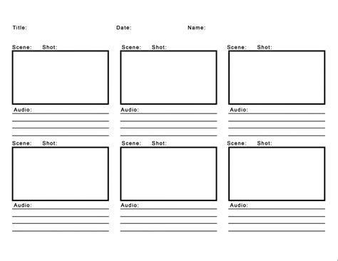Professional Blank Animation Storyboard Template Word Pdf Storyboard Template Powerpoint