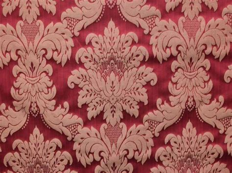 Damask Velvet Curtains Rococco Damask Rouge Fabric Curtain Fabric
