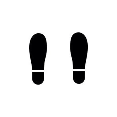 footprint stencil clipart best