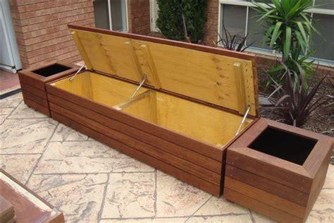 bench seat  planter garage   garden tool