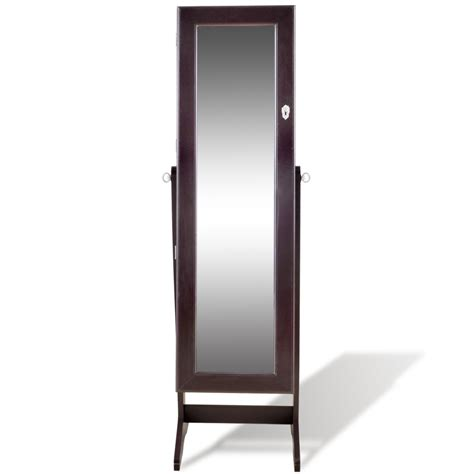 jewelry armoire mirror free standing brown free standing jewelry cabinet with led light and
