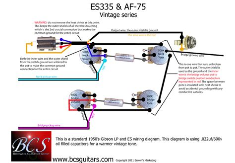 bcs guitars wiring upgrade for gibson epi es335 guitars