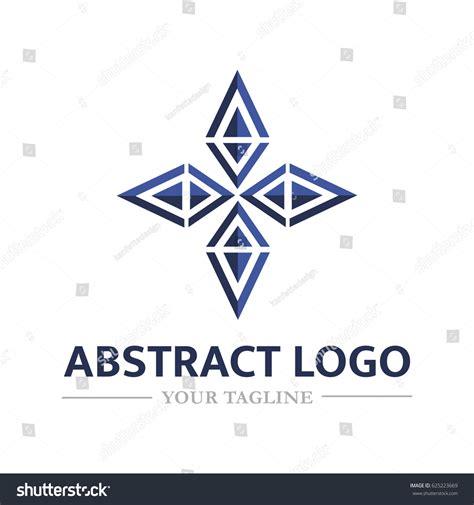 Origami Company - abstract logo form flower vector logo stock vector