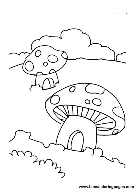 mushroom house coloring pages mushroom house colouring pages www imgkid com the