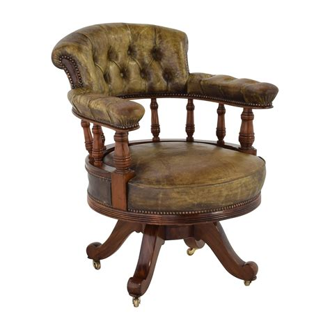 Antique Accent Chair 86 Antique Antique Leather Captain S Chair Chairs