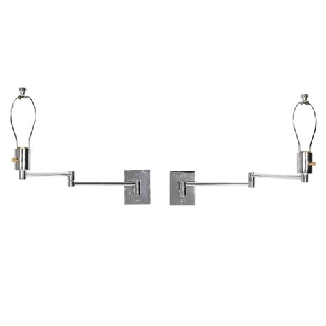 Swing Arm Wall Mounted L by Pair Of Georg W Hansen Chrome Swing Arm Wall Mounted