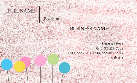 Girly Business Card Templates Girly Business Cards Templates Free