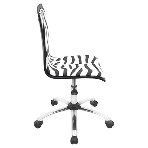 Printed Height Adjustable Office Chair With Swivel Zebra Zebra Swivel Chair