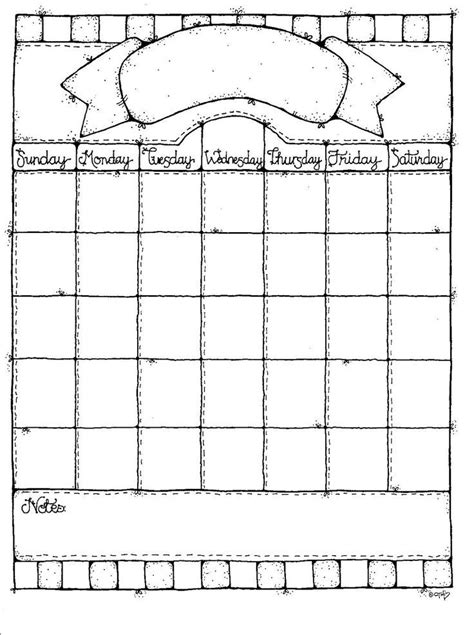 blank calendar templates for elementary school templates
