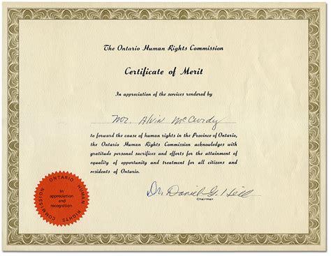 certificates a4 size certificate of merit landscape a4