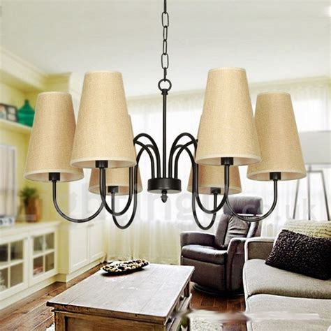 dining room candle chandelier 6 light retro contemporary living room dining room bedroom