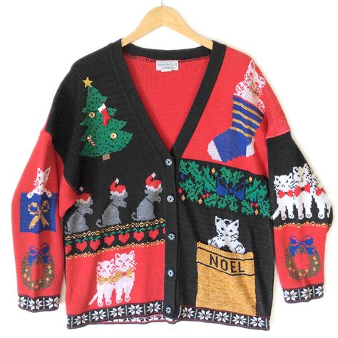 20 ugly christmas sweaters featuring cats with which to