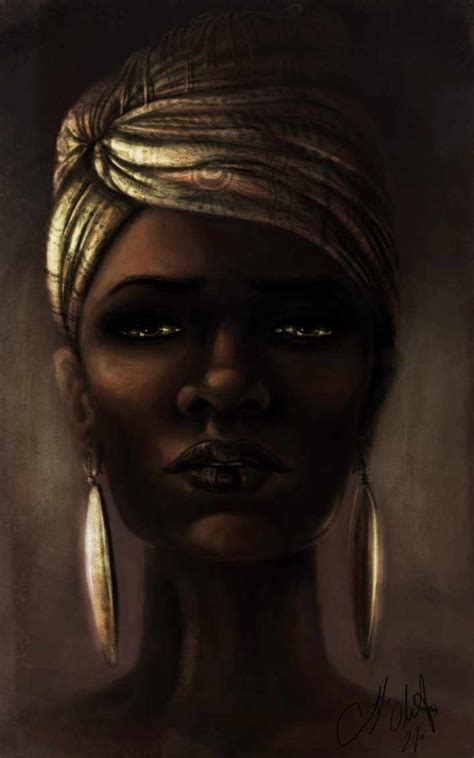 black woman portrait by florin chis on deviantart black art beautiful black woman by tyleen african