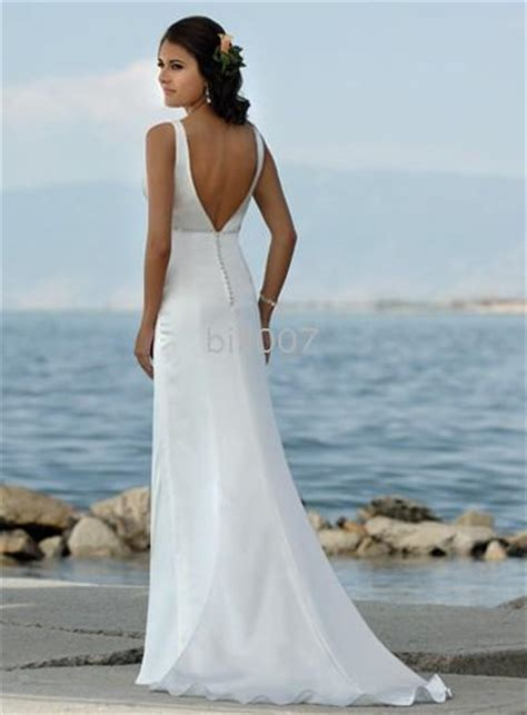 Beaded beach wedding gown a line beach wedding gown beach wedding gown