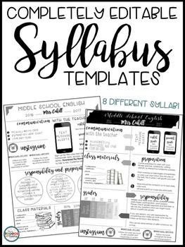 Syllabus Editable 8 Different Editable Syllabus Infographic Templates Open House Forms Infographic Syllabus Template Free