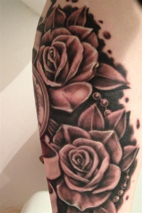 rose and beads tattoo tattoos i like