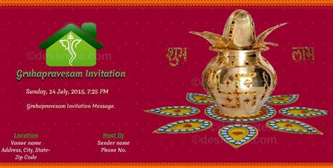 invitation design for house warming ceremony editable house warming ceremony invitation invitation cards for gruhapravesam pauls