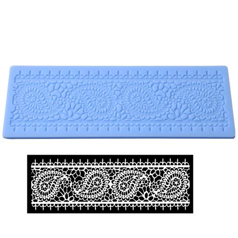 Silicone Mats For Sugarcraft by Lace Silicone Fondant Mould Embosser Mat Cake Sugarcraft